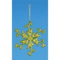 4.75 in. Vibrant Kiwi Green Glittered Snowflake Christmas Ornament