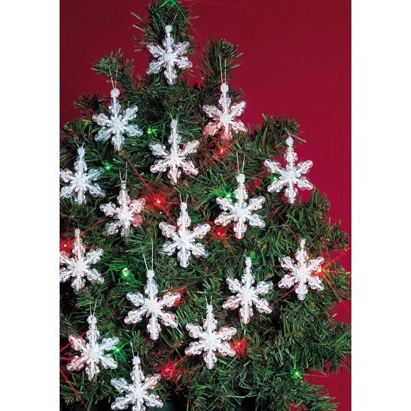 "Holiday Beaded Ornament Kit-Mini Snowflakes 2"" Makes 24"