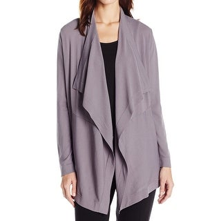 Anne Klein NEW Gray Women's Size XL Cardigan Open-Front Draped Sweater