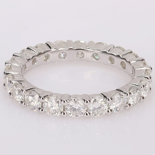 Link to Miadora 2 3/4ct TGW Created Moissanite Full Eternity Band in Sterling Silver Similar Items in Rings