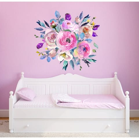 Flowers Bouquet Wall Decal, Peonies