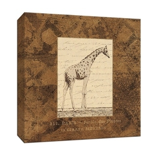 """PTM Images 9-153071  PTM Canvas Collection 12"""" x 12"""" - """"Giraffe"""" Giclee Safari Animals Art Print on Canvas"""