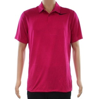 Nike NEW Pink Mens Size Medium M Golf Performance Striped Shirts & Tops