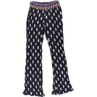 Aqua Womens Casual Pants Flat Front Printed
