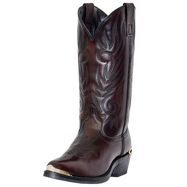 Laredo Western Boots Mens McComb Trucker Cowboy Toe Plate Black