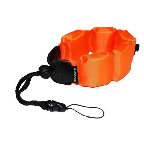Polaroid Floating Flotation Wrist Strap-Orange-For Waterproof Cameras/Camcorders