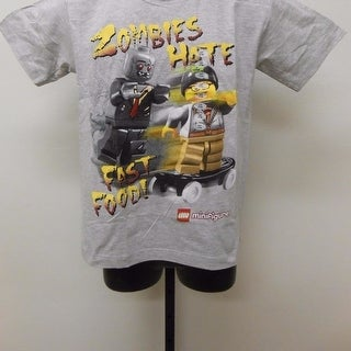 """LEGO """"ZOMBIES HATE FAST FOOD"""" YOUTH sizes S-L 7/8-14/16 T-SHIRT"""