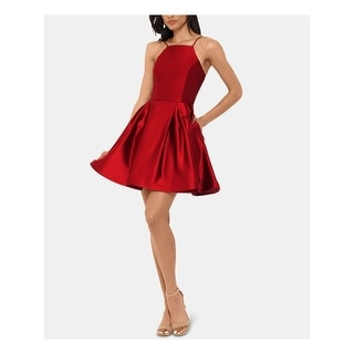 Link to BETSY & ADAM Red Sleeveless Short Fit + Flare Dress  Size 10 Similar Items in Petites