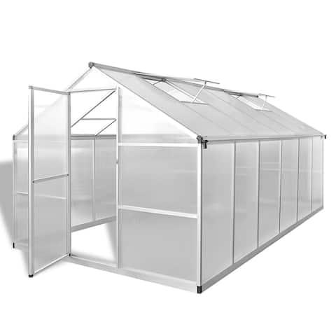vidaXL Reinforced Aluminium Greenhouse with Base Frame 97.1ft²
