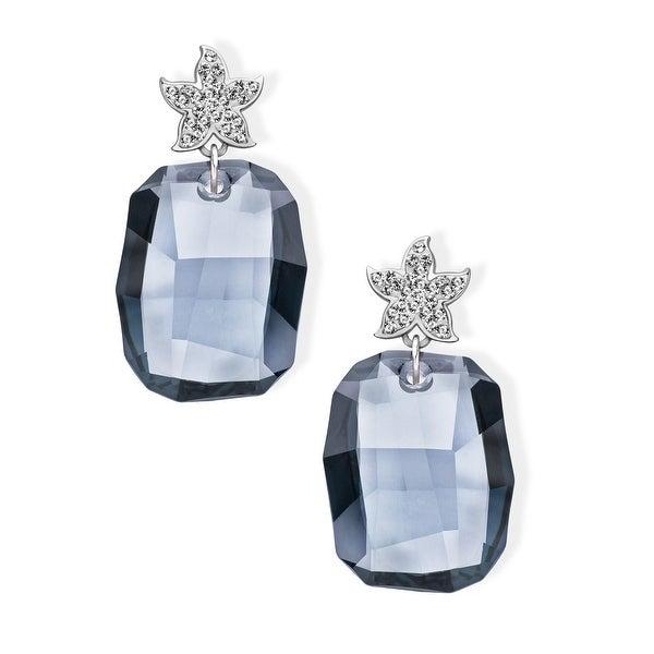 Aya Azrielant Drop Earrings with Storm Swarovski Crystals