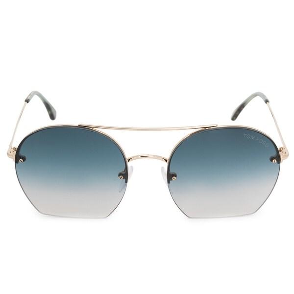 0ebe46b4b034 Shop Tom Ford Antonia Aviator Sunglasses FT0506 28W 55