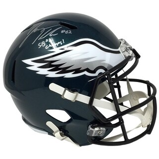 Jason Kelce Signed Philadelphia Eagles FS Replica Speed Helmet SB 52 Champs JSA