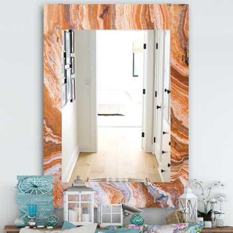 Designart 'Marbled Geode 2' Traditional Mirror - Vanity Mirror