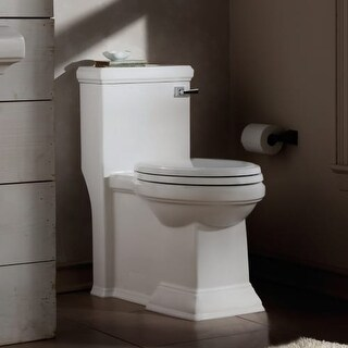 American Standard 2847.813 Town Square 1.28 GPF One-Piece Elongated Comfort Height Toilet with Right Hand Tank Lever - Includes