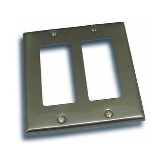 "Residential Essentials 10824 4.5"" X 4.5"" Double Rocker Switch Plate Featuring a Rustic / Country Theme"