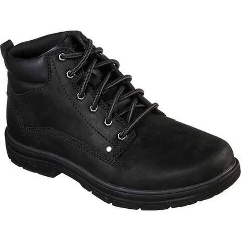 Skechers Men's Relaxed Fit Segment Garnet Boot Black/Black
