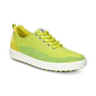 Ecco Womens Golf Casual Hybrid Knit Lime Punch/Sulphur 37 Euro 6-6.5 Shoes