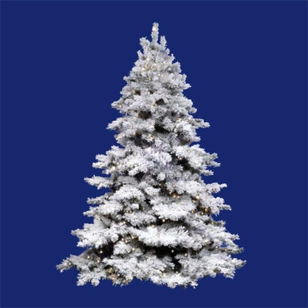 10' Pre-Lit Flocked Alaskan Artificial Christmas Tree - Clear Dura Lights