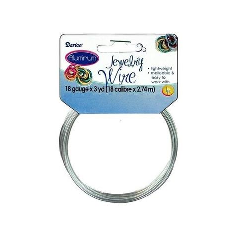 Darice Jewelry Wire Aluminum 18Ga 3yd Silver