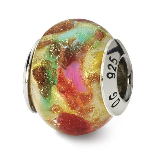 Italian Sterling Silver Reflections Multicolor Bead (4mm Diameter Hole)
