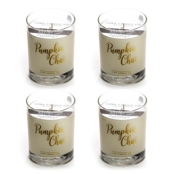 Pumpkin Chai Candle, Fall Decor, Premium Soy Blend Wax, USA (4 Pack)