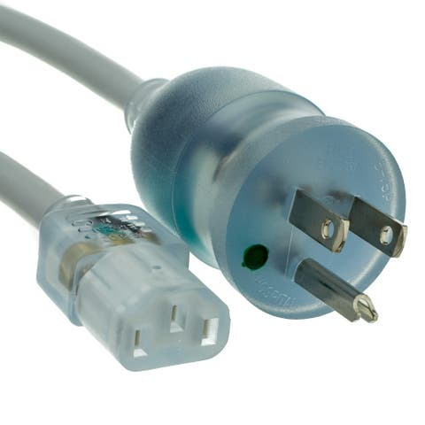 Offex Hospital Grade, Green Dot, Power Cord, Nema 5-15 to C13, 14 AWG, SJT, 15 Amp / 125 Volt, 6 Foot