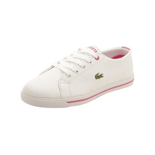 Lacoste Toddler Marcel 117 Sneakers in White/Pink