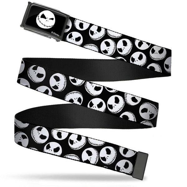 Jack Expression8 Fcg Black White Chrome Nightmare Before Christmas Web Belt
