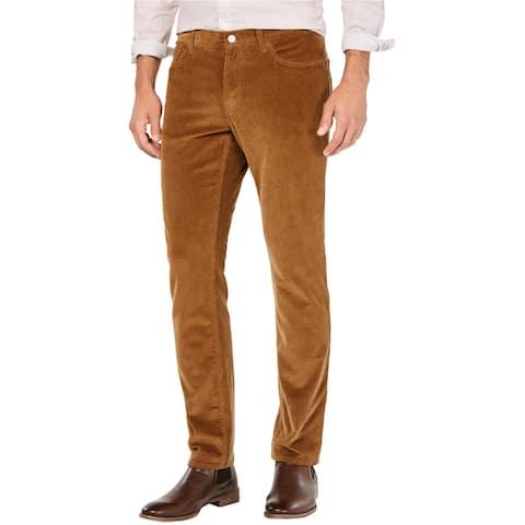 Michael Kors Mens Parker Casual Corduroy Pants, Brown, 34W x 32L