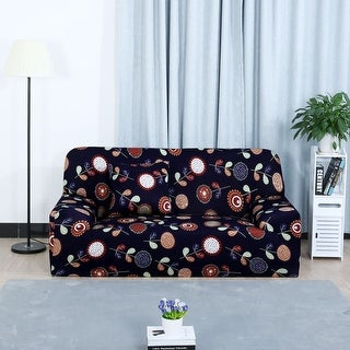 Unique Bargains Sunflower Pattern L-Shaped Stretch Sofa Covers Couch Sofa Slipcovers (1 2 3 Seater)
