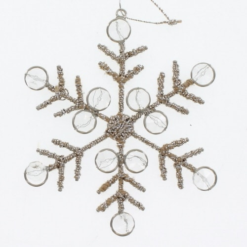Silver Thread Snowflake