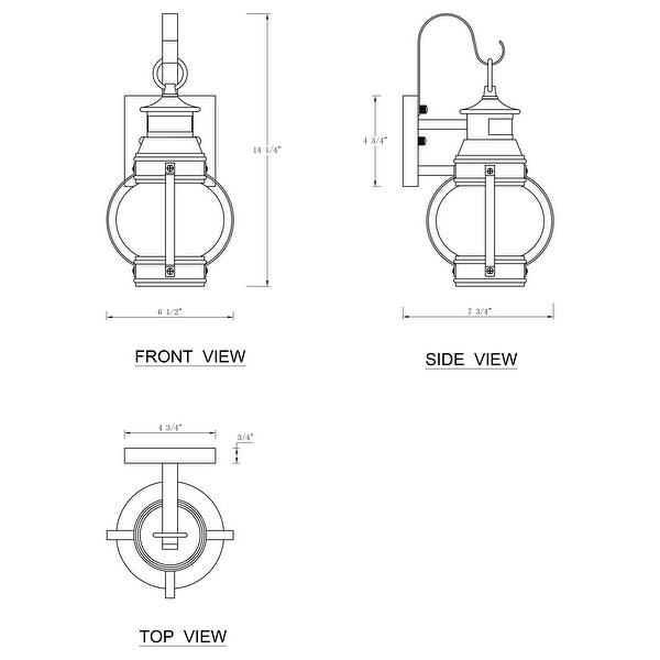 Matte Black Motion Sensor Dusk to Dawn Outdoor Wall Lantern Sconce