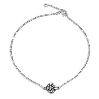 Bling Jewelry 925 Sterling Silver Celtic Knot Triquetra Anklet Bracelet