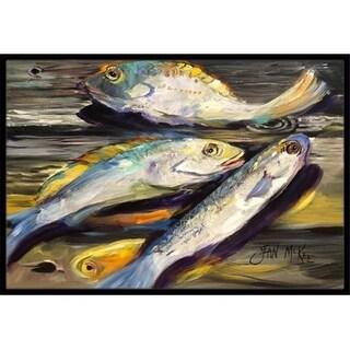 Carolines Treasures JMK1116JMAT Fish On The Dock Indoor & Outdoor Mat 24 x 36 in.