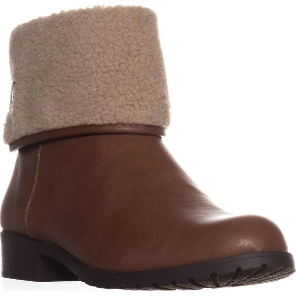 SC35 Beana2 Flat Ankle Boots, Barrel/Natural