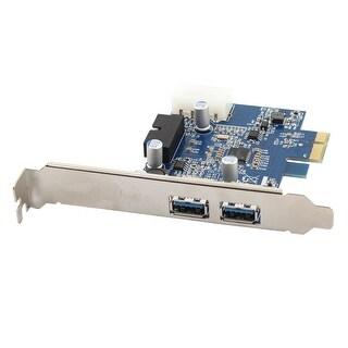 Computer 19-Pin Connector 2 Port PCI Express USB 3.0 Card Desktop Adapter