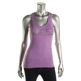 Guess Womens Studded Stretch Tank Top - M
