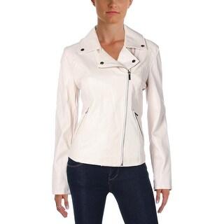 Bagatelle Womens Jacket Faux Leather Asymmetric-Zip