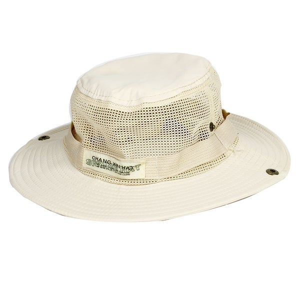 f614a84f810 Shop Unique Bargains Men Women Adjustable Hiking Fishing Cap Sun Hat Mesh  Style - Free Shipping On Orders Over  45 - Overstock.com - 18453055