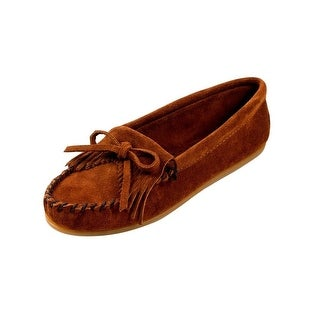 Minnetonka Shoes Womens Kilty Hardsole Moccasin Suede Brown (More options available)