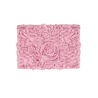 "Link to Bell Flower Collection Cotton Bath Rug 17""x24"" Similar Items in Bath Mats & Rugs"