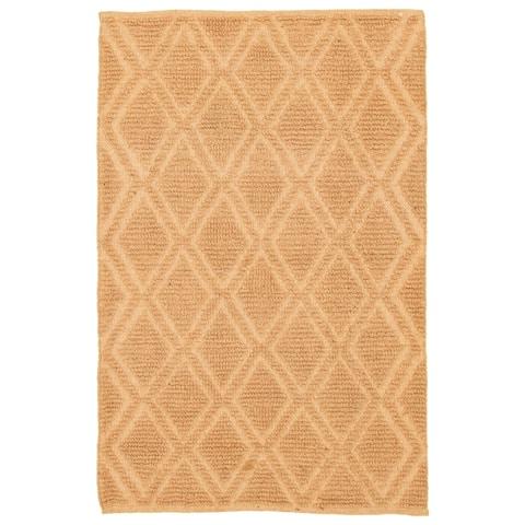 ECARPETGALLERY Braid weave Sienna Tan Jute Rug - 4'1 x 6'1
