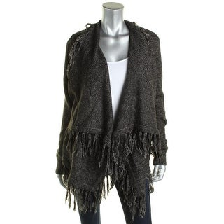 MICHAEL Michael Kors Womens Cardigan Sweater Fringe Draped