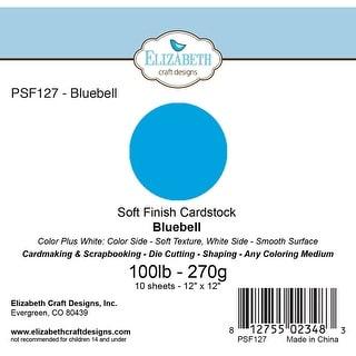 """Soft Finish Cardstock 12""""X12"""" 10/Pkg-Bluebell"""