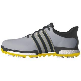 Adidas Men\u0027s Tour 360 Boost Light Onix/Bold Onix/Vivid Yellow Golf Shoes  Q44845