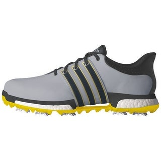 Adidas Men's Tour 360 Boost Light Onix/Bold Onix/Vivid Yellow Golf Shoes  Q44845
