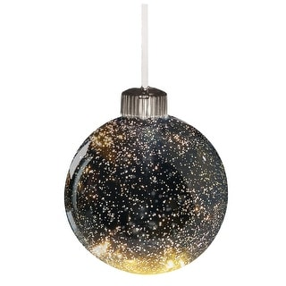 Color Changing Light Up Mercury Glass Ball Tree Ornament - Large