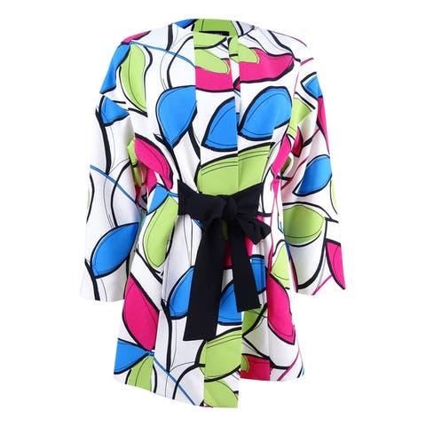 Nine West Women's Printed Wrap Topper Jacket