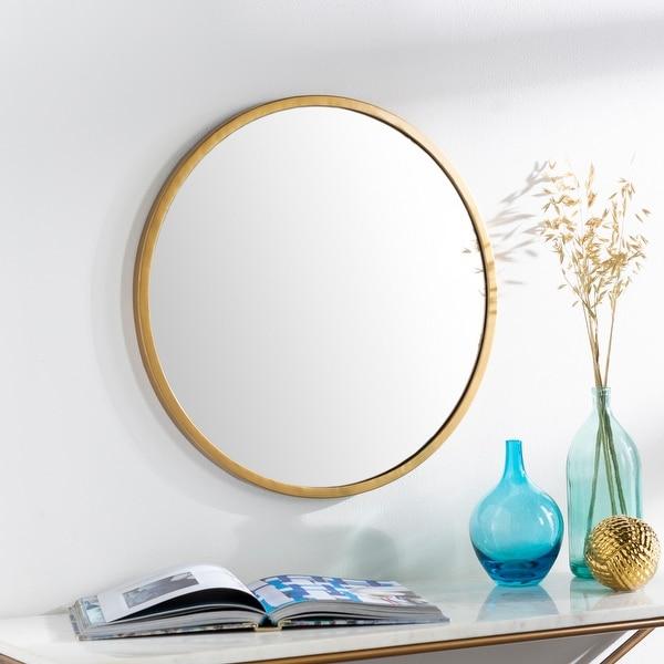 """Clarissa Classic Modern Gold 22-inch Round Mirror - 22""""H x 22""""W"""