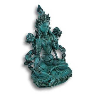 Buddhist Green Tara Goddess Statue - 8 X 5 X 4 inches